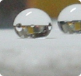 an example of a hydrophobic surface