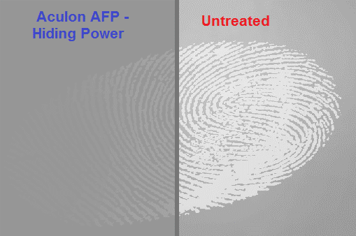 Anti-Fingerprint hiding power surface treatment