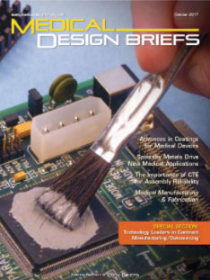 Medical Design Briefs magazine cover
