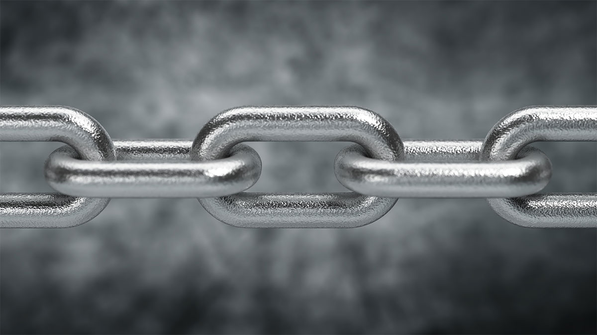 Surface treatment and coating strength represented by chain.