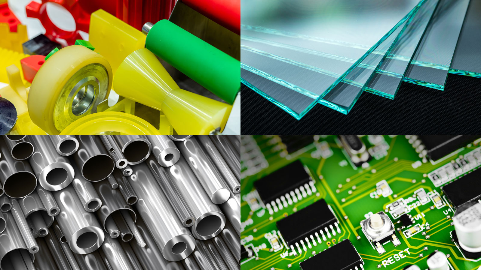 Substrates suitable for surface modification - plastic, metal, glass, and circuit boards