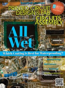 Circuits Assembly September 2018 cover, featuring Aculon's article about waterproofing