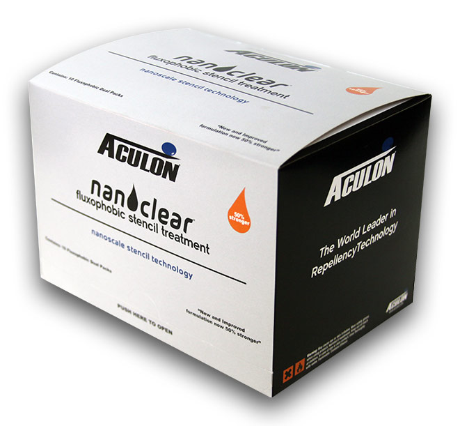 NanoClear stencil wipe product box