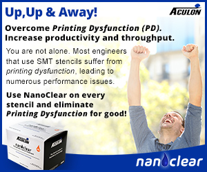 Eliminate solder stencil print issues with NanoClear