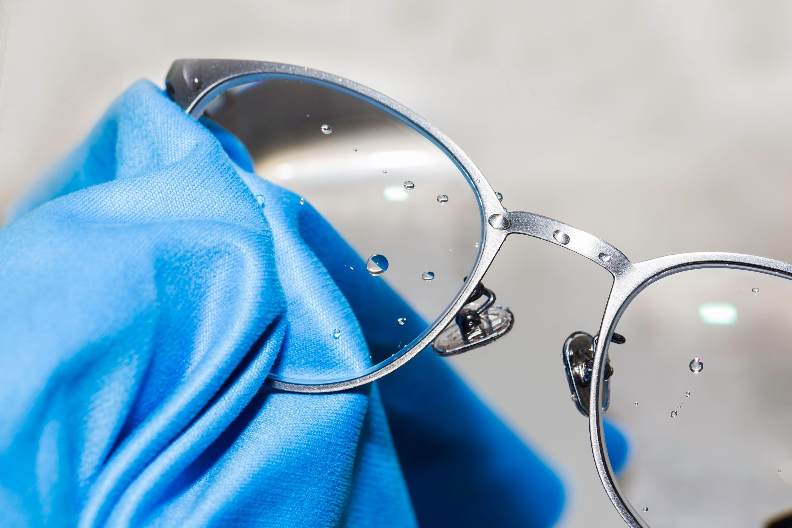 Glasses with easy clean coating applied