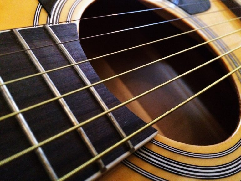 Guitar string coating